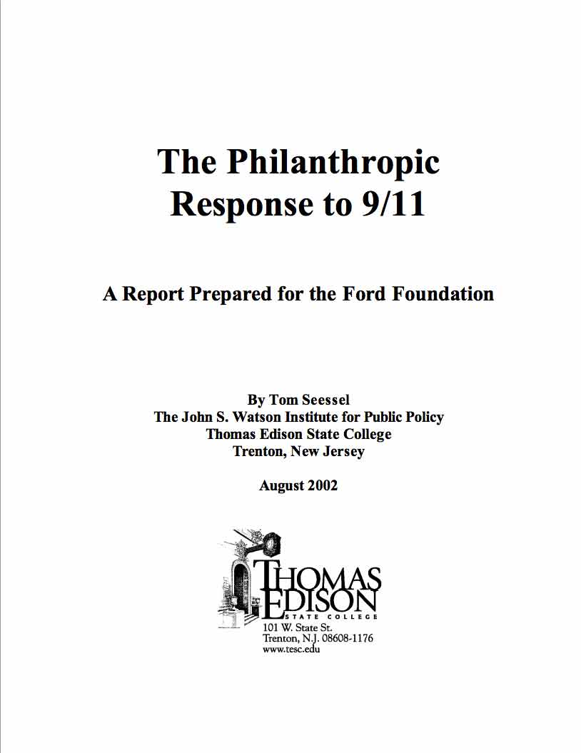 The Philanthropic Response to 9/11