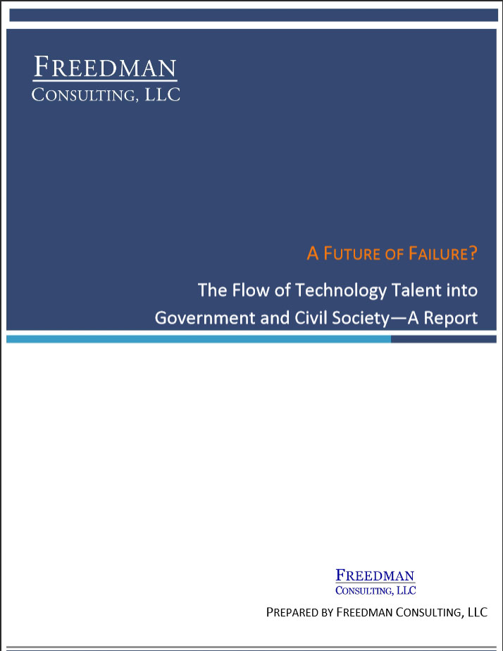 A Future of Failure? The Flow of Technology Talent into Government and Society