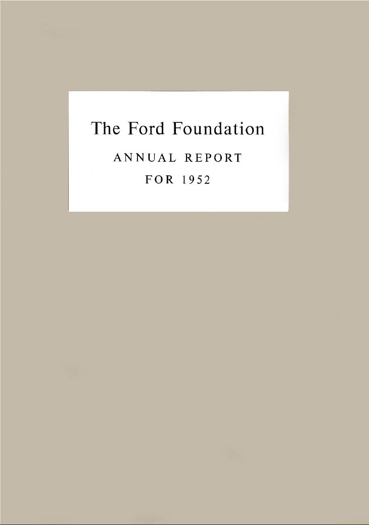 FF Annual Report 1952