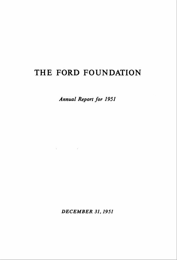FF Anual Report 1951