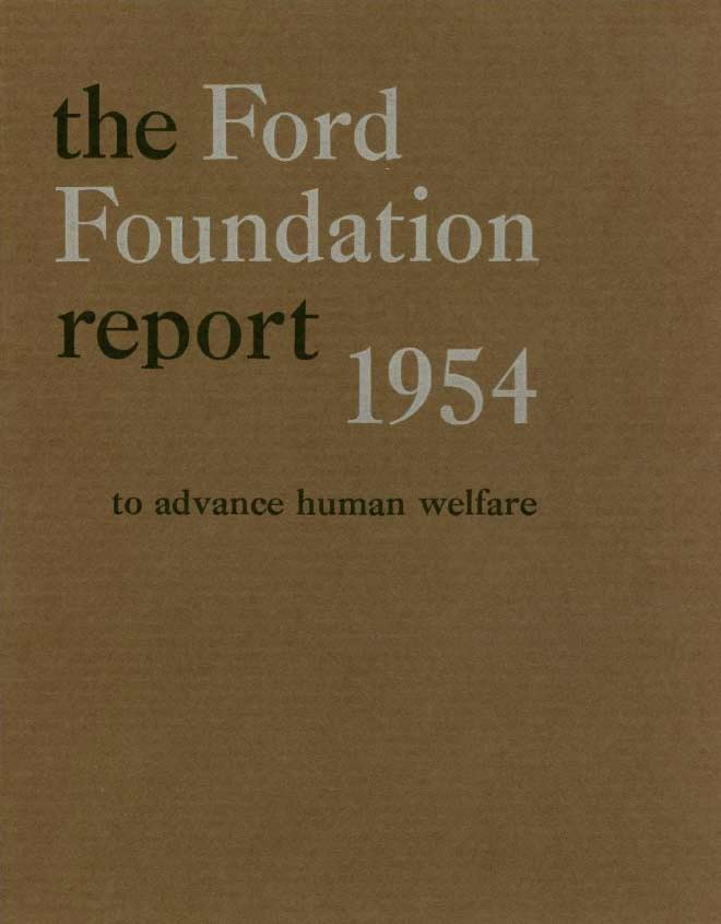 FF Annual Report 1954
