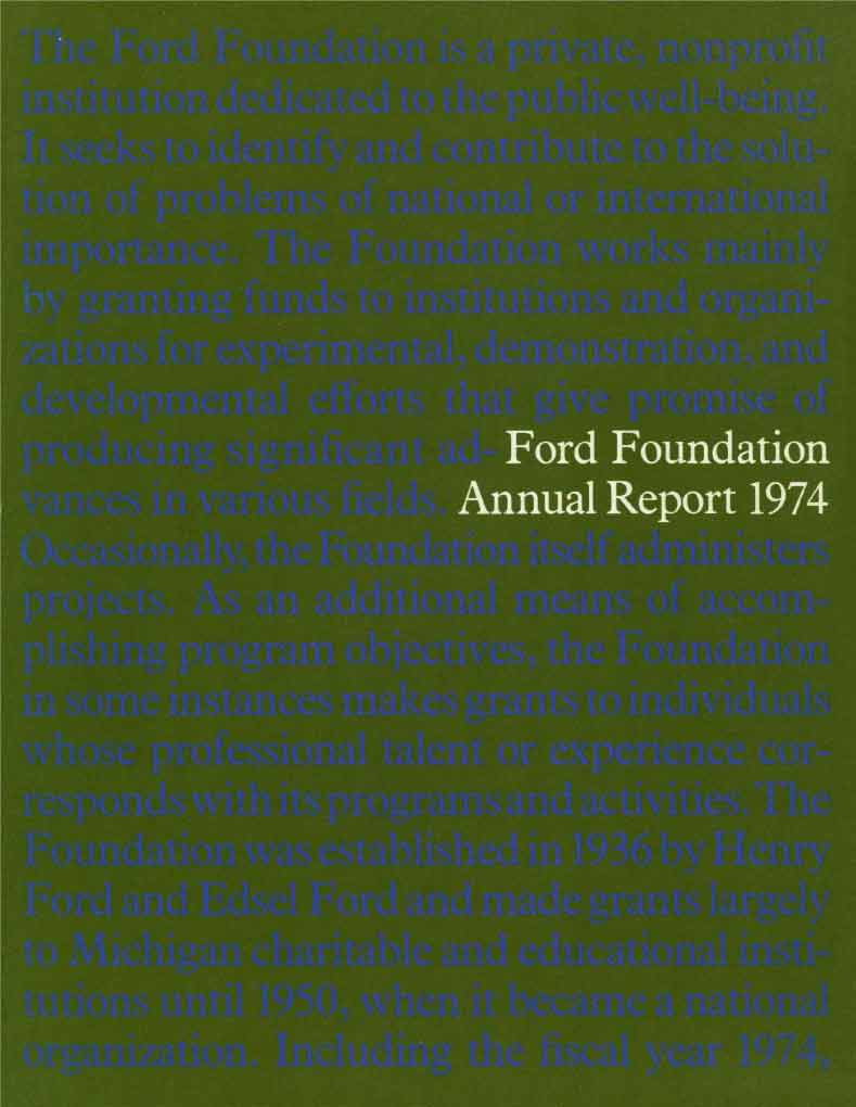 FF Annual Report 1974