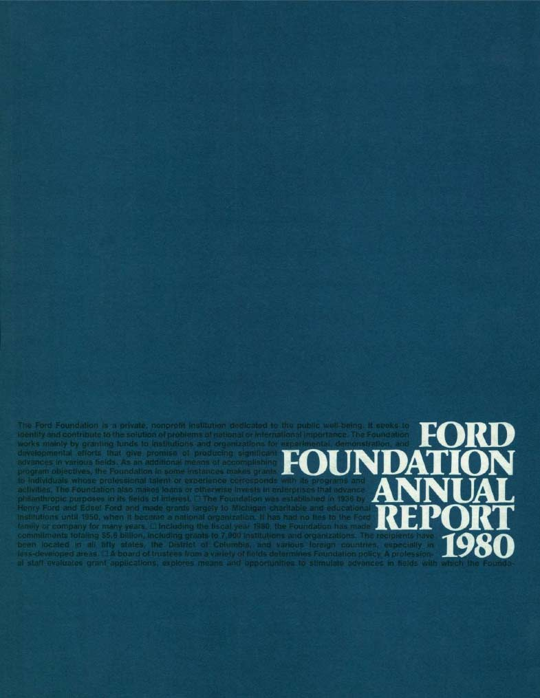 FF Annual Report 1980