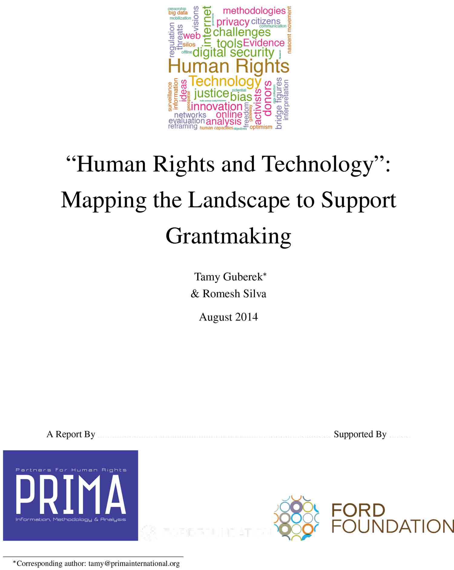 Human Rights and Technology: Mapping the Landscape to Support Grantmaking