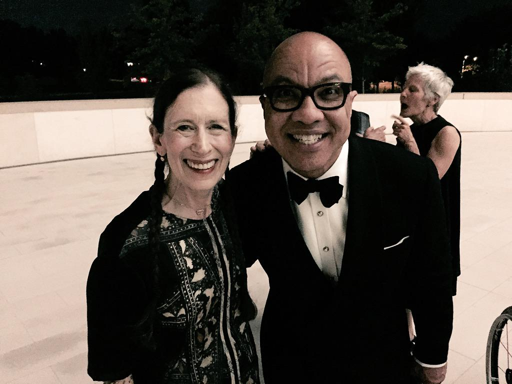 Darren Walker with composer, singer, and performer Meredith Monk. This image is not available under the 4.0 Creative Commons license.
