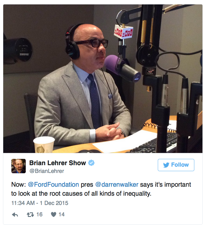 Darren Walker on The Brian Lehrer Show