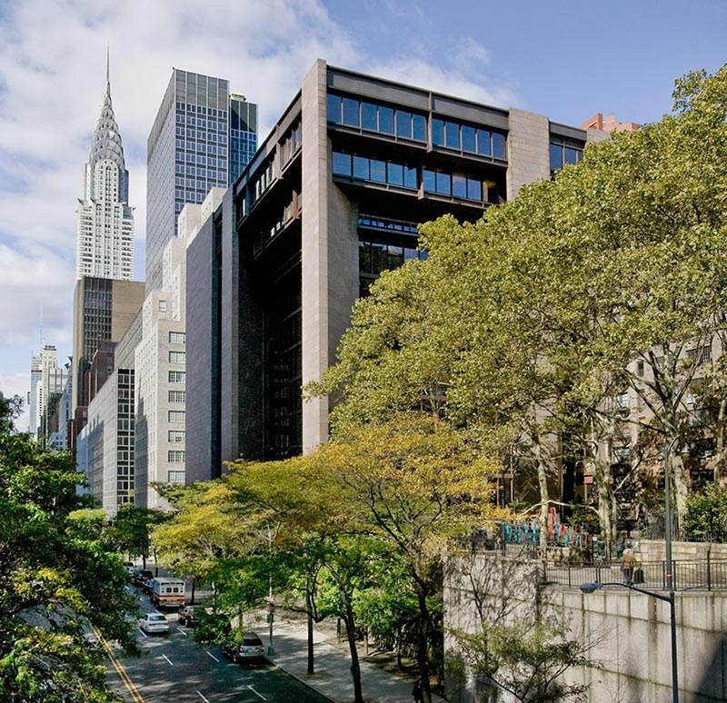 Ford Foundation headquarters exterior. New York. 2008. Photo Credit: Richard Barnes