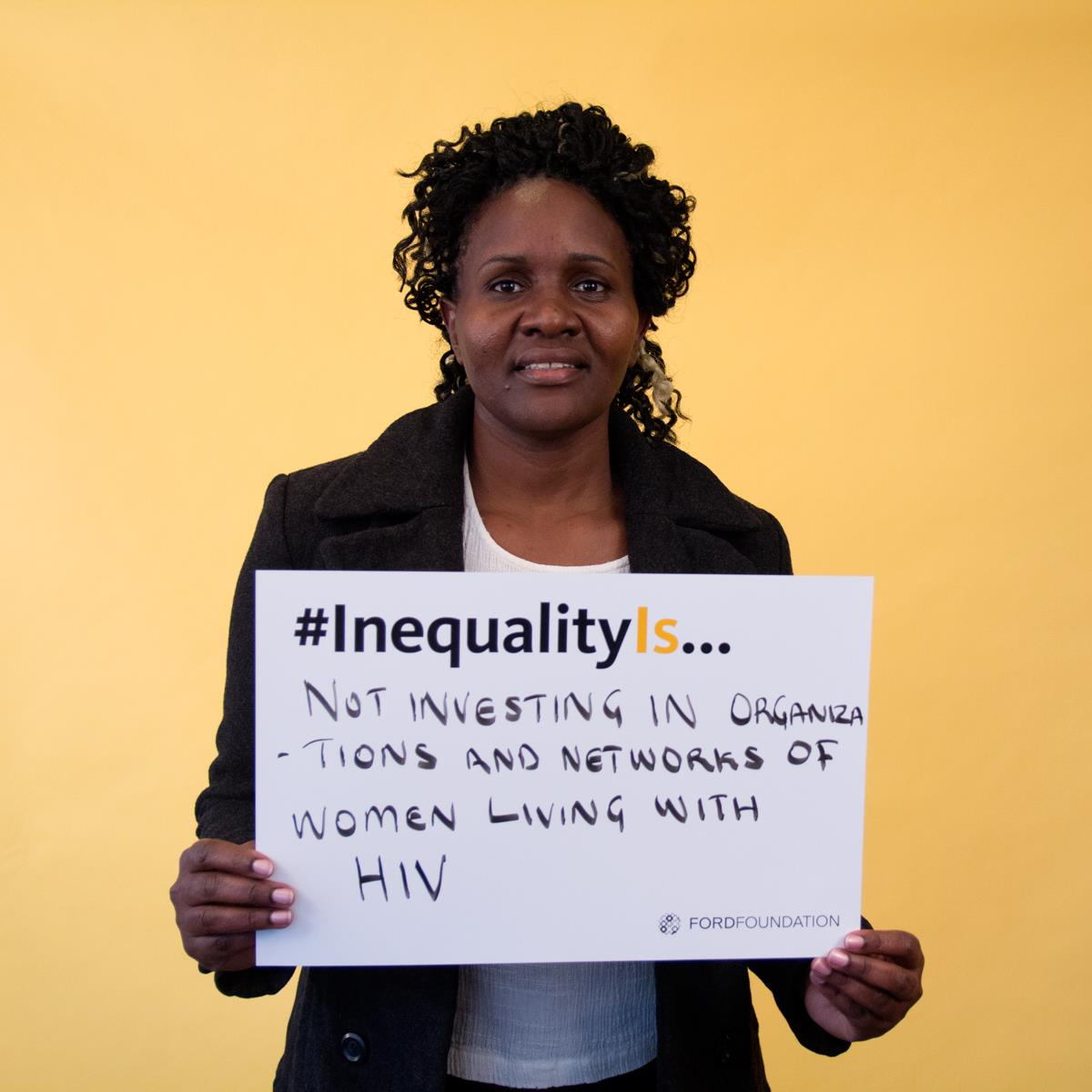 Teresia Otieno of The International Community of Women Living with HIV