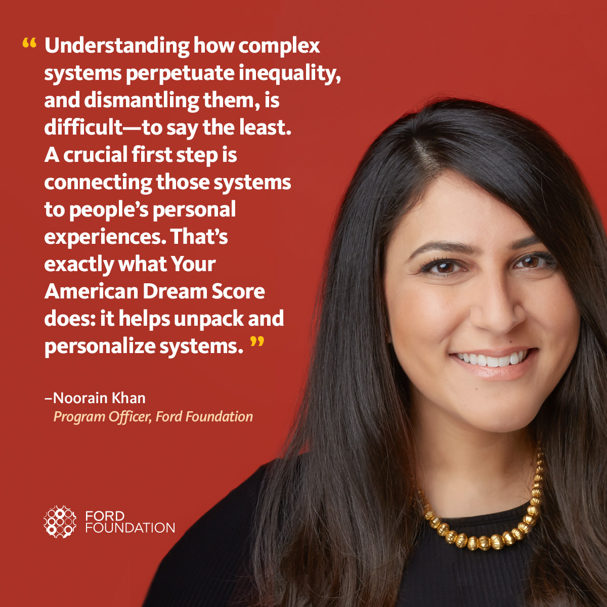 Noorain Kahn reflects on her American Dream Score