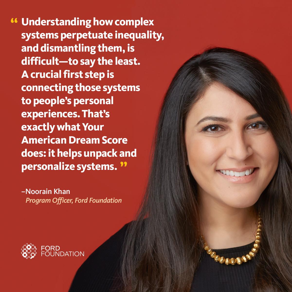 Noorain Kahn reflects on her American Dream Score