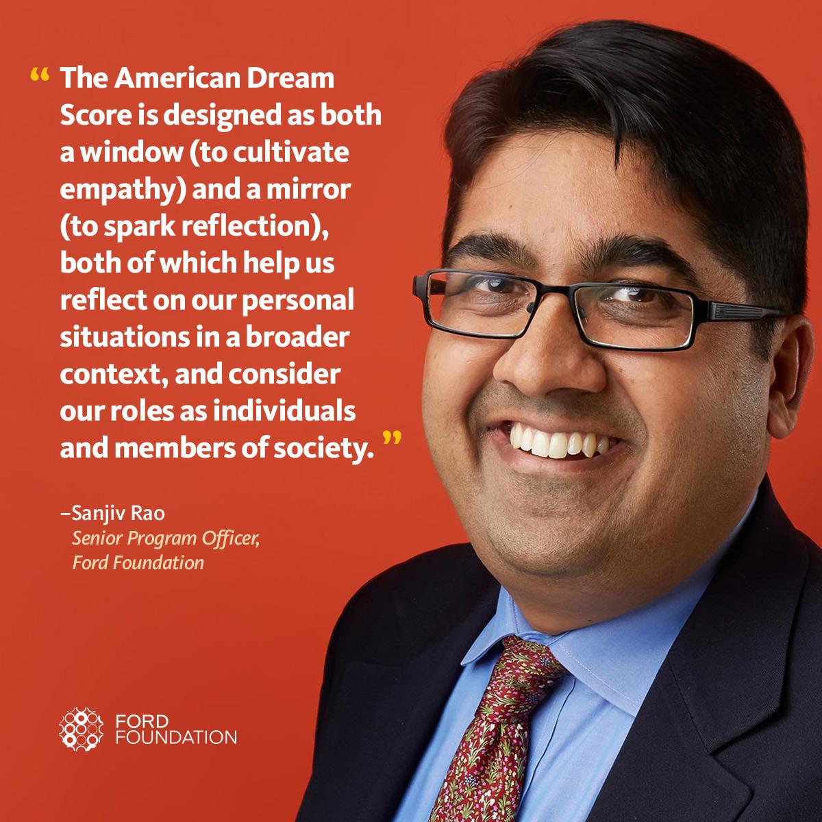 Sanjiv Rao reflects on his American Dream Score